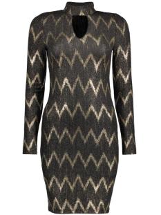 onlBELLA HIGHNECK L/S DRESS JRS 15126210 Black/Gold
