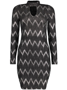onlBELLA HIGHNECK L/S DRESS JRS 15126210 Black/Silver