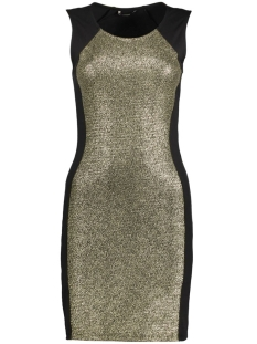 onlGOLDEN S/L SHORT DRESS JRS 15131741 Black/Gold