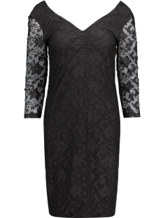 Noisy may Jurk NMTRISHA 3/4 LACE ABK DRESS 10167417 Black