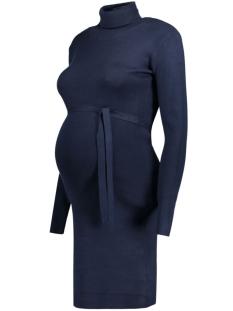 Mama-Licious Positie jurk MLJACINA L/S KNIT ROLLNECK DRESS 20004689 Navy Blazer