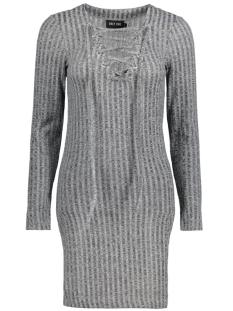 onlNORI RIB LACE-UP L/S DRESS JRS 15130030 Dark Grey Melange