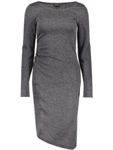 Vila Jurk VIGENERAL L/S DRESS 14037828 Dark Grey Melange
