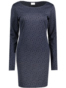 Vila Jurk VITINNY L/S ALL OVER DOT DRESS 14040952 Total Eclipse