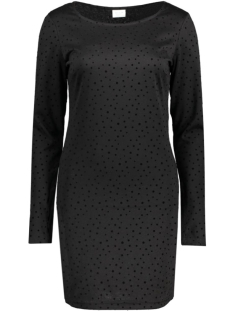 Vila Jurk VITINNY L/S ALL OVER DOT DRESS 14040952 Black