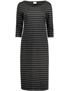 Vila Jurk VITINNY LONG 3/4 SLEEVE DRESS 14041128 Black/Snow White