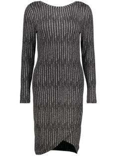 OBJGLITTY L/S BOATNECK DRESS 23024164 Black