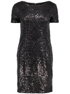 Vero Moda Jurk VMKIM S/S SEQUIN SHORT DRESS NFS 10178831 Black