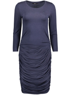Only Jurk onlTOA MOSTER WRINKLE 7/8 DRESS NOOS 15137802 Navy Blazer