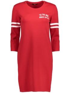 onlNAJA 3/4 SWEAT DRESS JRS 15136331 Tango Red