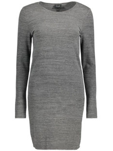 Vila Jurk VIDANAS L/S SLIM DRESS 14038919 Dark Grey Melange