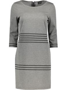 VITINNY 3/4 PORT STRIPE DRESS 14040871 Medium Grey/Black