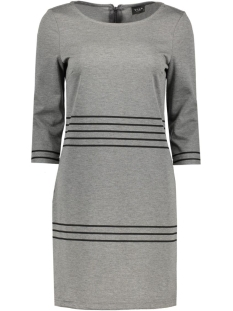 Vila Jurk VITINNY 3/4 PORT STRIPE DRESS 14040871 Medium Grey/Black