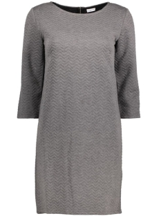 Jacqueline de Yong Jurk JDYMURILLO 3/4 ZIP DRESS JRS 15127276 Dark Grey Melange
