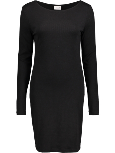 Vila Jurk VIFALLS L/S  BOATNECK DRESS 14039483 Black