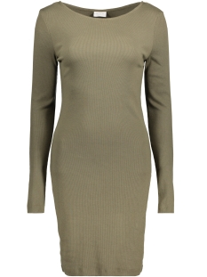 Vila Jurk VIFALLS L/S  BOATNECK DRESS 14039483 Ivy green
