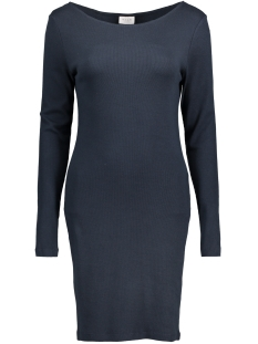 Vila Jurk VIFALLS L/S  BOATNECK DRESS 14039483 Total Eclipse