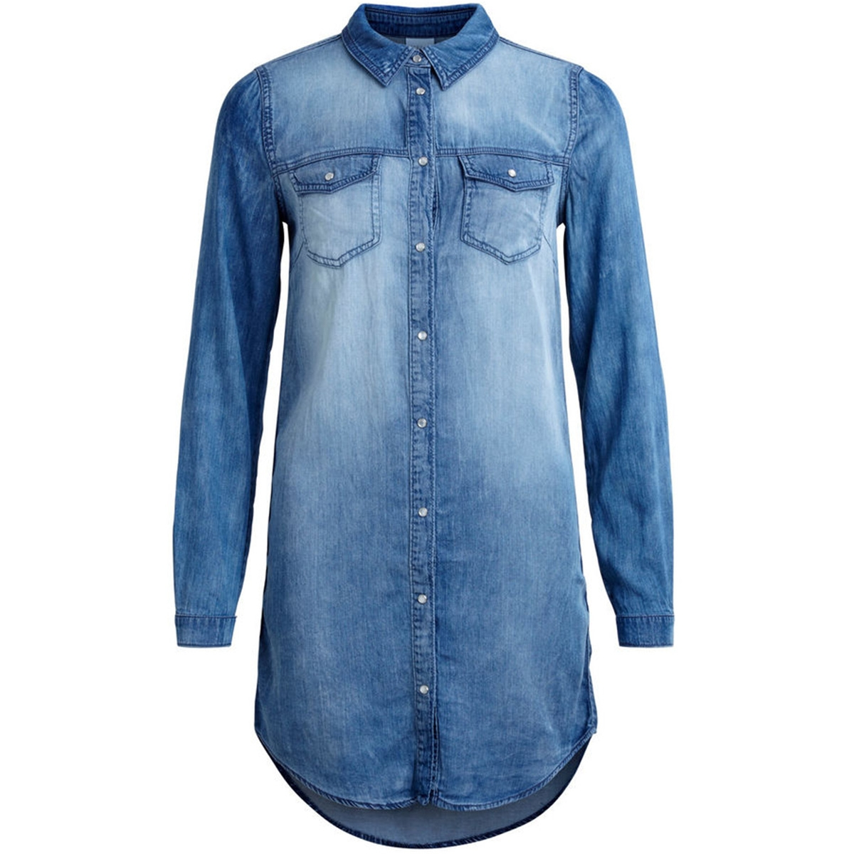 vibista denim dress 14040911 vila jurk medium blue denim
