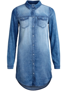 Vila Jurk VIBISTA DENIM DRESS 14040911 Medium blue denim