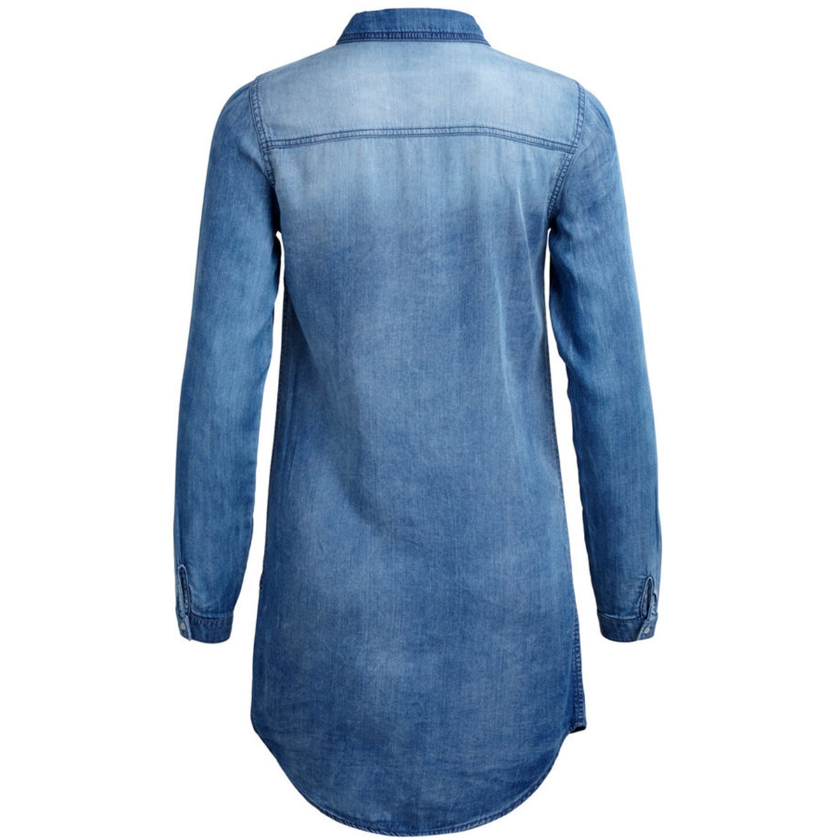 vibista denim dress 14040911 vila jurk medium blue denim
