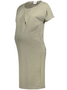 Mama-Licious Positie jurk MLMOON S/S JERSEY DRESS 20006983 Vetiver