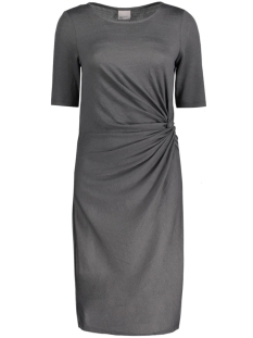 Vero Moda Jurk VMSACHI 2/4 KNOT ABK DRESS JRS 10174606 Dark Grey Melange