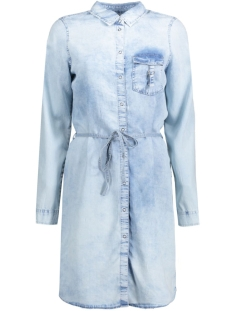 Noisy may Jurk NMPATRIC L/S TENCEL DRESS 10172071 Light Blue Denim