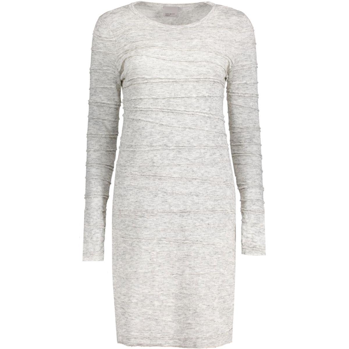 vmmontana 3/4 dress 10169823 vero moda jurk light grey melange