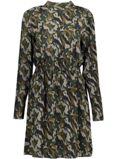 Object Jurk OBJCAMOU L/S DRESS A 23025028 Ivy Green