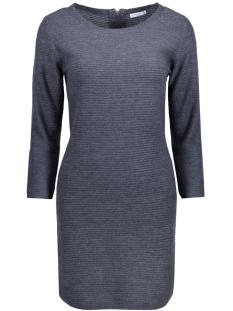 Jacqueline de Yong Jurk JDYMATHISON 7/8 ZIP DRESS KNT 15140311 Blue Graphite