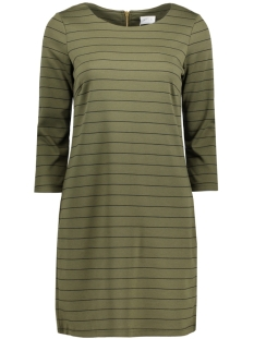 Vila Jurk VITINNY NEW DRESS-NOOS 14033863 Ivy Green/ Black