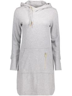 onlJUNE L/S HOOD DRESS SWT 15132535 Light Grey Melange