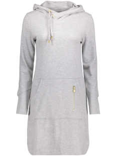 Only Jurk onlJUNE L/S HOOD DRESS SWT 15132535 Light Grey Melange