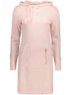 onlJUNE L/S HOOD DRESS SWT 15132535 Peach Whip