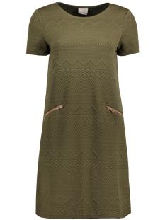 Vero Moda Jurk VMKAYSA SS SHORT DRESS JRS 10175097 Ivy Green/ W. Gold Zi