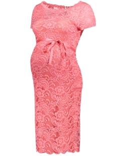 Mama-Licious Positie jurk MLMIVANA S/S BOATNECK WOVEN DRESS 20007156 Sunkist Coral