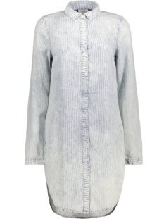 Vero Moda Tuniek VMNATASJA LS LONG SHIRT GA 10170670 Snow White/ Med Blue
