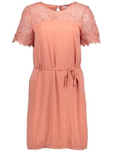 Vila Jurk VIMELLI BLOCKED LACE DRESS 14041301 Rose Dawn