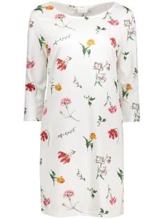 Vila Jurk VITINNY FLORISTA DRESS 14041210 Cloud Dancer/ ViFlorista