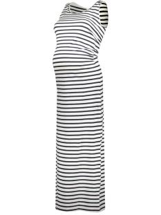 Mama-Licious Positie jurk MLLEA ORGANIC Y/D TANK MAXI DRESS 20007227 Snow White/Navy Blazer