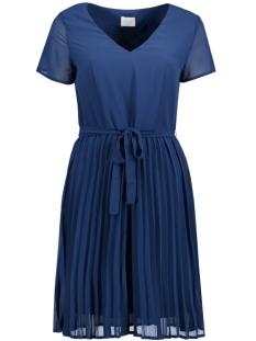 Vila Jurk VIERICA V-NECK S/S DRESS/DC 14040151 Estate Blue