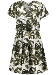 Object Jurk OBJLOTTE S/S DRESS AOP 91 23024923 Ivy Green