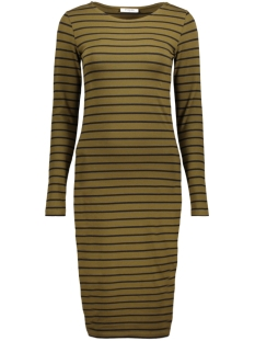 Pieces Jurk PCMAITH LS MIDI DRESS D2D 17076569 Dark Olive/Dark Olive