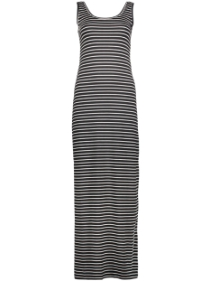 Vila Jurk VIHONESTY NEW MAXI DRESS-NOOS 14033519 Black/Snow White