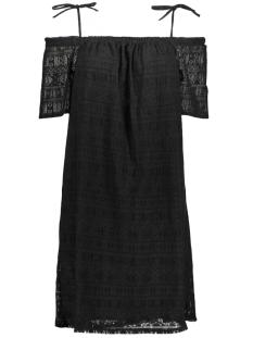 NMANNA S/S SLEEVE LACE SHORT DRESS 10176759 Black