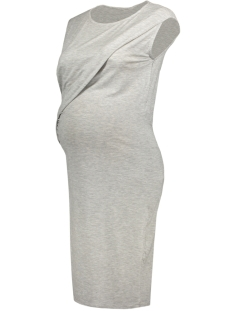 Mama-Licious Positie jurk MLTRILLE S/L JERSEY DRESS A V 20007165 Light Grey Melange