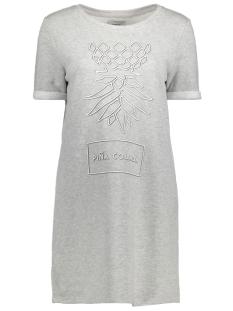 onlAPPEL SS ONECK DRESS SWT 15135883 Light Grey Melange/ Pina Colada