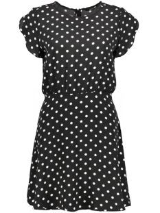 Only Jurk onlTAMMY S/S SHORT DRESS WVN 15135077 Black/ Preppy Dot