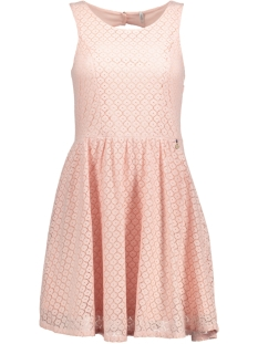 Only Jurk onlLINE FAIRY LACE DRESS WVN NOOS 15114482 Peachy Keen
