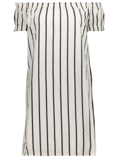 VMSTRIPY OFFSHOULDER DRESS A 10174207 Snow White/Black Thin